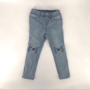 Toddler skinny jeans size 4 years Gap puppy